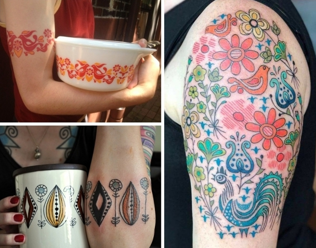 Tattoo vintage serviesgoed trend go with the vlo