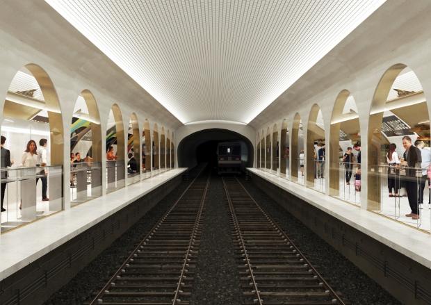 SAME Architects Croix Rouge Parijs metrostation go with the vlo