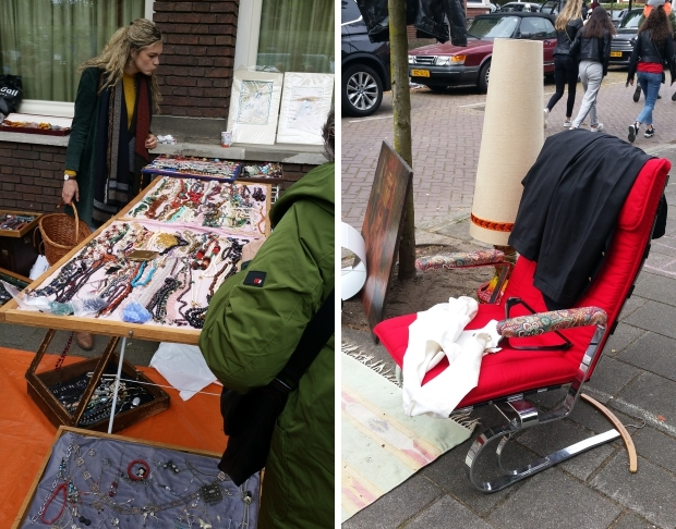Amsterdam vrijmarkt Koningsdag 2019 Apollolaan go with the vlo