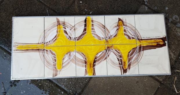 Tegels tableau keramiek jaren zeventig go with the vlo