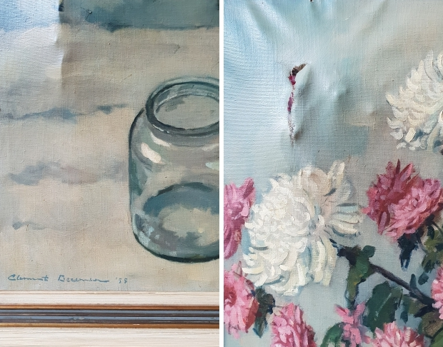 Clement Bezemer schade containervondst schilderij go with the vlo