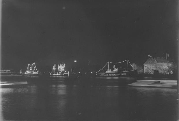 Francois Henri van Dijk Nieuw Maas Rotterdam avond jaren dertig go with the vlo