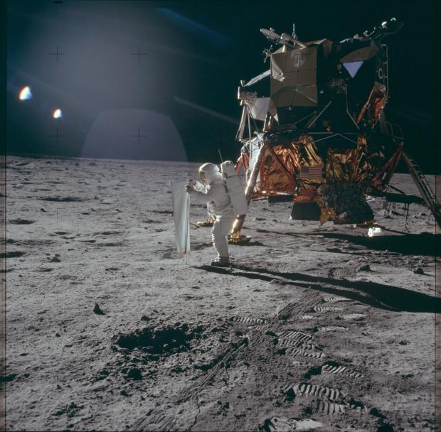 Apollo 11 astronaut maanlanding 1969 bodem go with the vlo