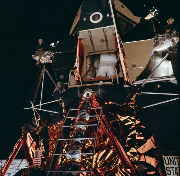 Apollo 11 astronauten maanlanding 1969 Amerika go with the vlo 2