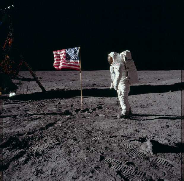 Apollo 11 astronauten maanlanding 1969 Amerika go with the vlo