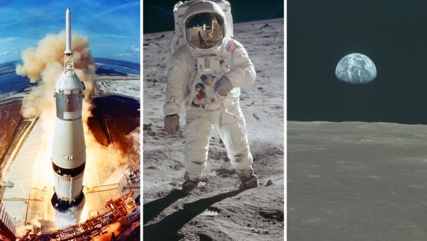 Apollo 11 eerste maanlanding 20 juli 1969 foto's go with the vlo