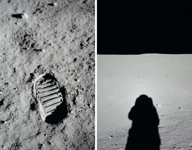 Apollo 11 maanlanding 1969 eerste voet go with the vlo