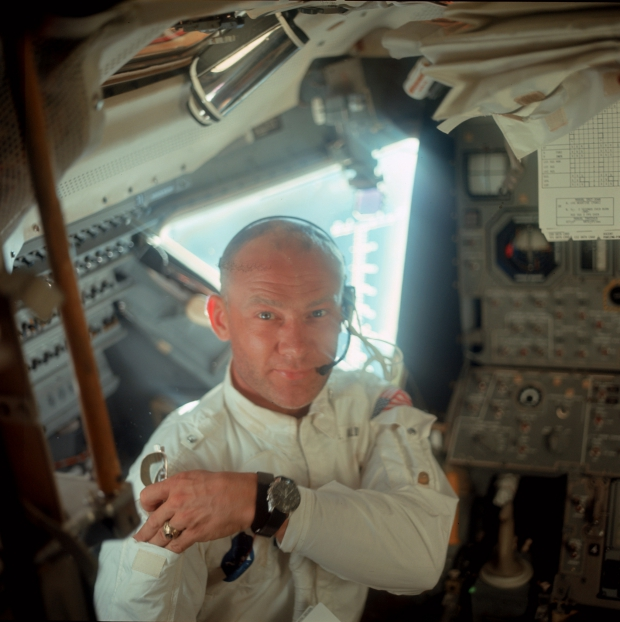Apollo 11 maanmissie 1969 Buzz Aldrin go with the vlo