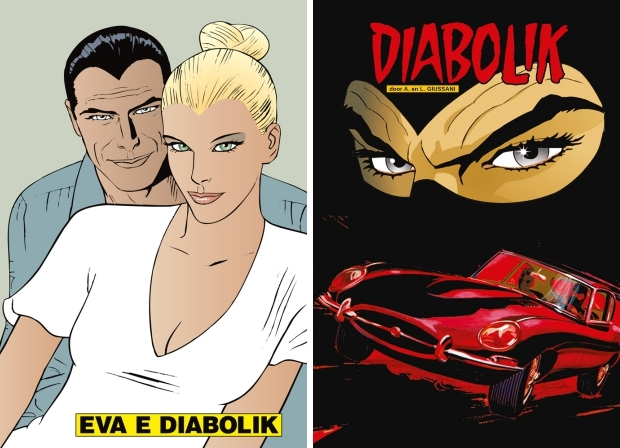 Diabolik comeback Windmill Comics strip go with the vlo
