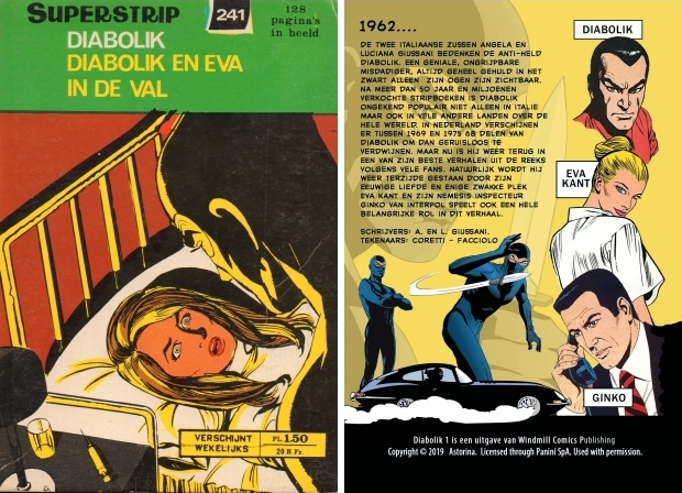 Diabolik en Eva in de val Windmill Comics go with the vlo