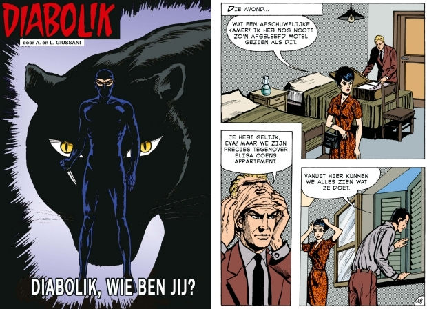 Diabolik wie ben jij Windmill Comics maskers go with the vlo