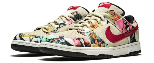 Paris Nike SB Low Dunks sneakers veiling Sotheby's go with the vlo
