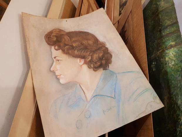 Antiquariaat Leo Meijer Schiedam opheffingsuitverkoop portret vrouw go with the vlo