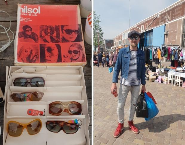 IJ-Hallen rommelmarkt Amsterdam vintage zonnebrillen go with the vlo