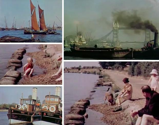 Kleurenfilm Londen Thames jaren dertig go with the vlo