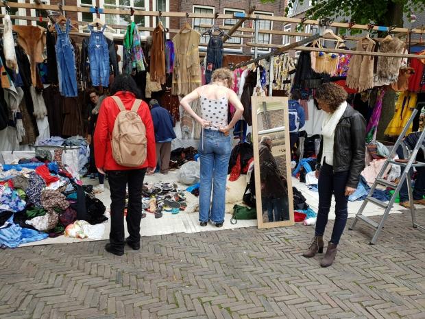 Noordermarkt Amsterdam vintage kleding go with the vlo