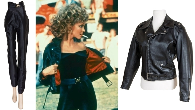 Olivia Newton John veiling Grease jasje broek go with the vlo