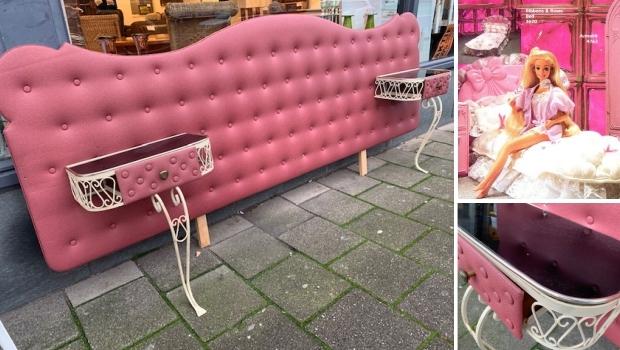 Roze Barbiebed Kringloopwinkel Gewoon Goed Schiedam go with the vlo