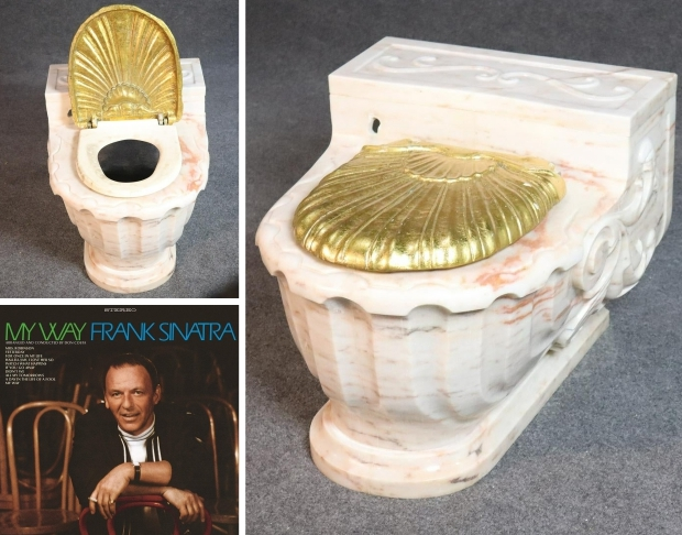 Toilet Frank Sinatra veiling go with the vlo
