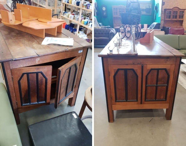 Vintage kast kringloopwinkel RataPlan Delft go with the vlo