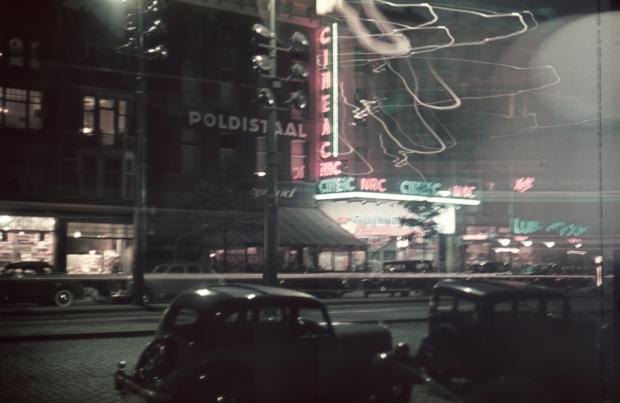 Coolsingel Rotterdam jaren dertig avond Richard Boske go with the vlo