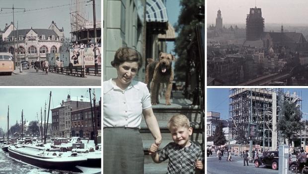 Kleurenfoto's Oud-Rotterdam jaren dertig bombardement go with the vlo