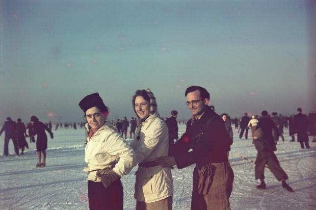 Kralingse Plas Rotterdam jaren dertig schaatsen Richard Boske go with the vlo