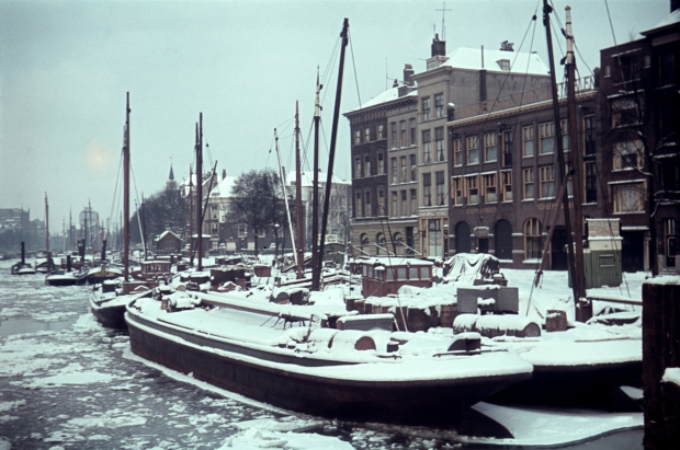 Leuvehaven Rotterdam winter jaren dertig Richard Boske go with the vlo