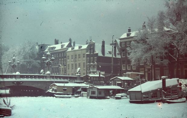 Regentessebrug Rotterdam winter jaren dertig Richard Boske go with the vlo