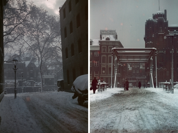 Scheepmakershaven Rotterdam winter eind jaren dertig Richard Boske go with the vlo