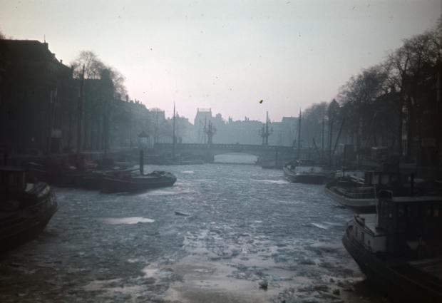 Wijnhaven Regentessebrug Rotterdam winter jaren dertig Richard Boske go with the vlo